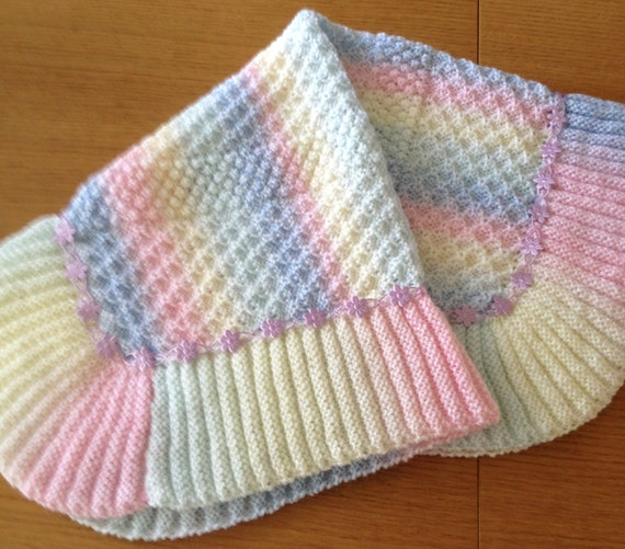 Knitting Pattern Rainbow Blanket : Rainbow Dust baby blanket knitting pattern