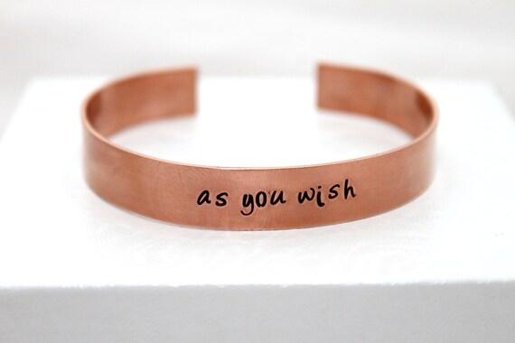 Personalized Bracelet, Custom Message, Customized Jewelry, Hand Stamped Bracelet, Copper Jewelry