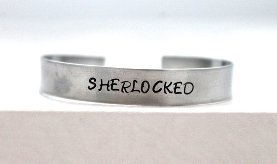 Sherlocked Bracelet, Fan Jewelry, Geek Gift