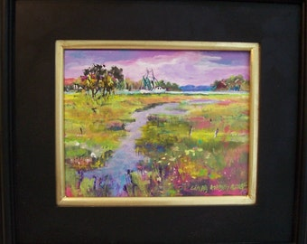 BEAUFORT BEAUTY, 8X10 Original Painting on canvas and beautifully framed.............