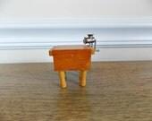 Doll House Furniture,  Butcher Block, Miniature, 1:12 Scale, Dollhouse Furniture, Dollhouse Kitchen, Miniature Butcher Block