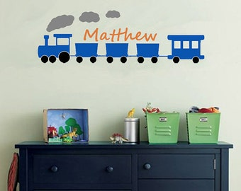 Wall Decal TRAIN Monogram EXTRA LARGE 4 Feet Wide