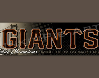 San Francisco Giants Baseball sign