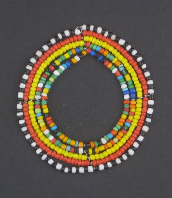 items similar to maasai beaded pendant beadwork