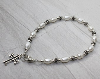 Sterling Silver Pearly Gates Bracelet