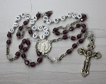 Personalized Birthstone Rosary Special Price!