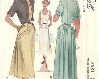 7581 McCalls Dress Bolero Jacket  size 14