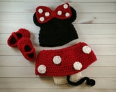mouse set baby girl costume baby girl hat mouse hat crochet mouse newborn hats crochet newborn
