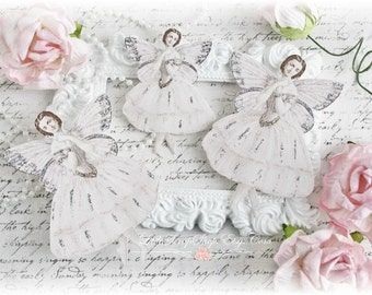 Tiny Dancer Fairy Die Cut Embellishments for Scrapbooking, Cardmaking, Mixed Media, Altered Art