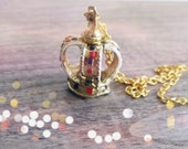 Upcycled Vintage Necklace - The Queen of Wallsend - OOAK
