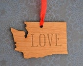 LOVE Engraved Washingon Ornament