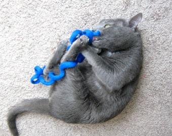 Wool Cat Toy  - Felted Swirl Rope - Eco Friendly - Kitten Play - Fun