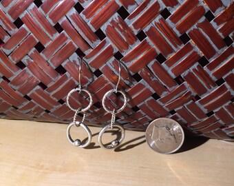 Tri-Loop drop earrings Sterling silver