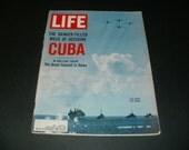 Vintage Life Magazine November 2 1962 - US Navy off Cuba Cover, Natalie Wood Article - Art  Scrapbooking Paper Ephemera