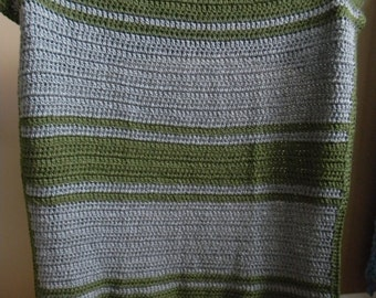 Ivy League College Blanket - Grey Green - Ready to ship