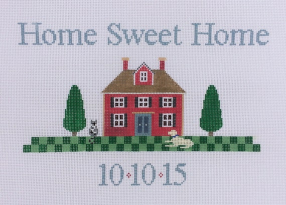 Home Sweet Home Needlepoint Canvas