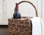 Woven Wine Carrier Basket