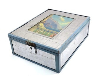 Memories Awake Art Deco Chromium Jewelry Box Vintage 1930s Mirrored Box Memories Awake as the Sunlight Fails Litho Print