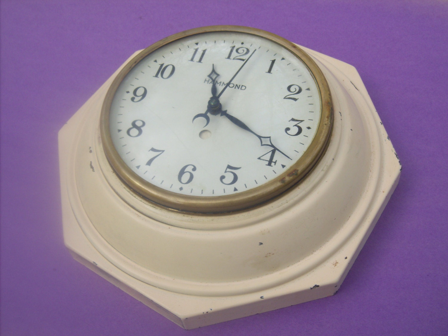 Antique Hammond Metal Kitchen Spin And Start Clock By