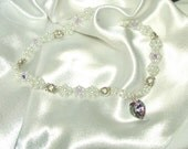 Princess Collar necklace Custom made for Sue Swavorski crystals, glass pearls