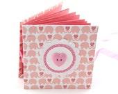 Elephant Walk Mini Photo Book, 2x3 wallets - salmon pink, mauve pink