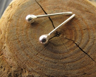 Sterling Silver Bud Stud Earrings. Sterling Silver Ball Post Earrings