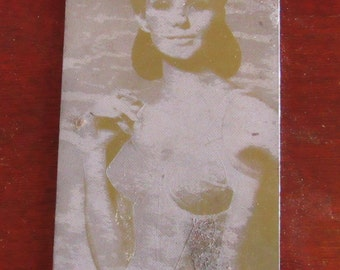 Classy Vintage 1960s Lingerie Photographic Printing Plate-Corset