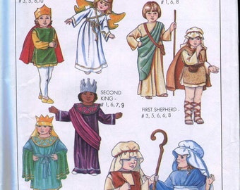 Adult Size Small Christmas Pageant Costumes Pattern - Nativity - Simplicity 8930 UNCUT