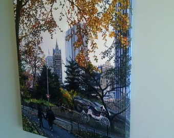 NYC Original Oil Painting of Central Park  - 20x24