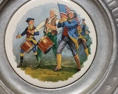 The Great American Revolution Pewter and Ceramic Plate Spirit of 76 Duracast 1776