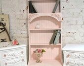 RESERVED Painted Cottage Chic Shabby Handmade Bookcase / Display Cabinet BC13