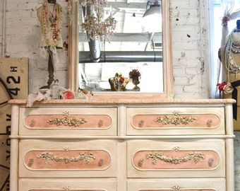 Painted Cottage Chic Shabby Romantic French Dresser SSDR10
