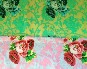 Kaffe Fassett fabric Brokade Floral, rare, OOP, retired, half yard bundle, early Westminster