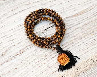 Tiger Eye Gemstone Delicate Mala Beads