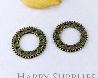5pcs High Quality Antique Bronze Gearwheel Charm / Pendant (11629)
