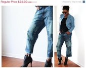 SALE Vintage Boyfriend Jeans By Beverly Hills Polo Club 34/33