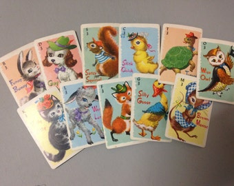Vintage set of Whitmans Children's playing cards
