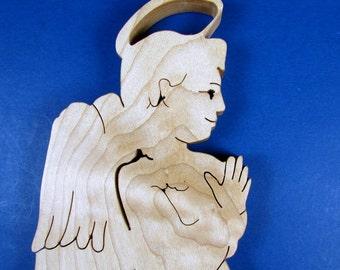 Angel / Wall Hanging / Hard Maple Wood