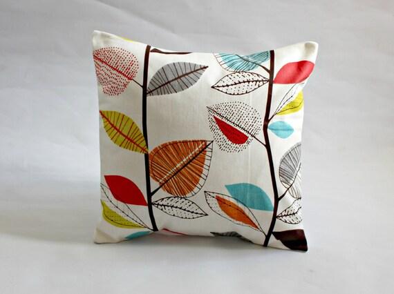 Decorative Pillow Turquoise Blue Red Orange Yellow By VeeDubz