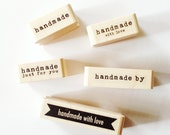 Handmade by Rubber Stamp handmade with love Stamp handmade just for you Rubber Stamp Handmade Stamps