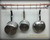 Handmade Copper Pot and Pan Holder Rack