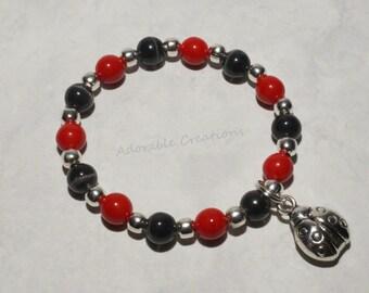 Red & Black Ladybug Bracelet