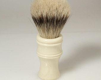 24mm High Mountain White Badger Hair Shaving Brush with Alternative Ivory Handle