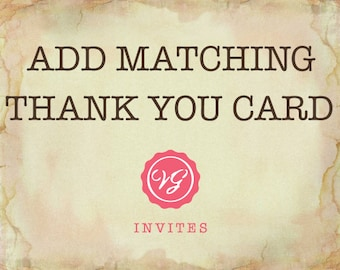 Add Matching Thank You Card