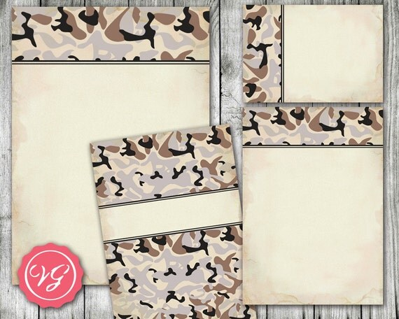 Camouflage Wedding Invitation Kits: Items Similar To Printable Camo Wedding Invitations