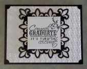 2015 Graduation Card, Die Cut Fleur de Lis Congrats You Choose Color