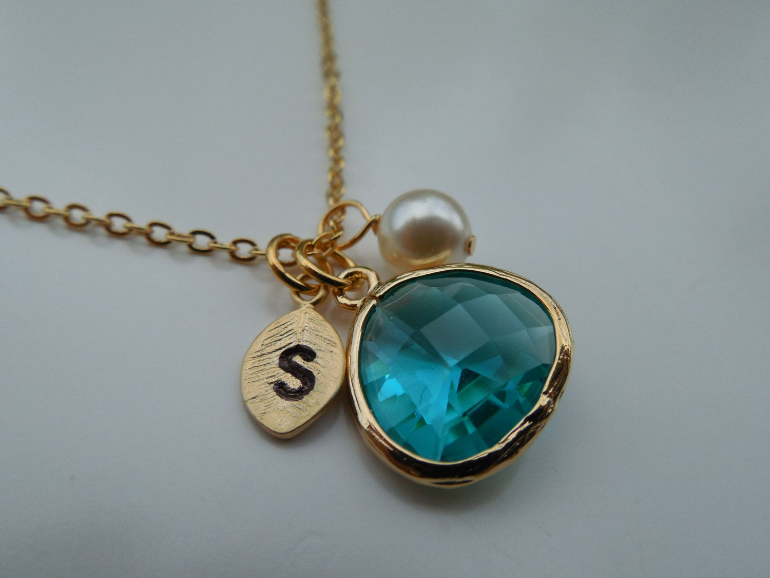 20 off december birthstone necklace gold or silver blue. Black Bedroom Furniture Sets. Home Design Ideas
