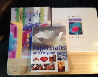 Set of 3 Paper Craft Books
