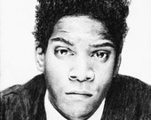 Jean Michel Basquiat - original drawing framed and ready to hang