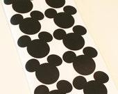 Mickey and Minnie Chalkboard Label Stickers, 10 Mickey Minnie Mouse Stickers, Mason Jar Labels, Mickey Chalkboard Label, Disney Birthday